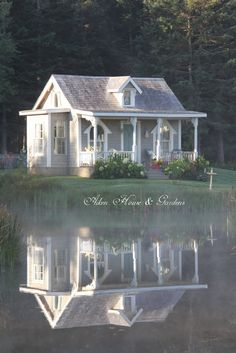 Aiken House & Gardens: One Foggy Day  - I luv this photo of the reflection on the water so gorgeous!!!