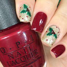 ❤️Beautiful holly to go with the holiday season!❤️ Thank you to @sensationails4u! - Holly #NailVinyls Snailvinyls.com