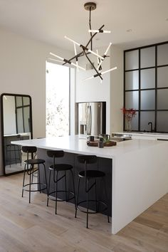 #kitchenisland #lighting | Agnes / glass + steel