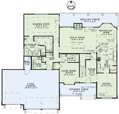 First Floor Plan Of Craftsman European House Plan 82235
