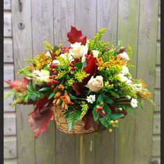 Autumn basket arrangement