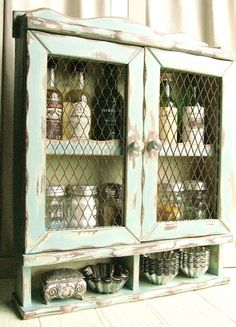 painted projects on this blog--sissy this reminds me of the old trailers kitchen cupboards ..lets do something with them