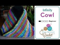 Crochet Infinity Cowl + Tutorial - The Crochet Crowd