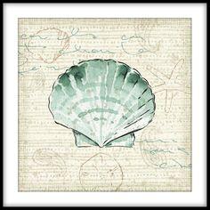 Trademark Fine Art 'Ocean Prints II' Canvas Art by Pela Studio, Size: 24 x Gray My Canvas, Abstract Canvas, Canvas Wall Art, Wall Art Prints, Poster Prints, Canvas Prints, Coastal Art, Illustrations, Framed Wall Art