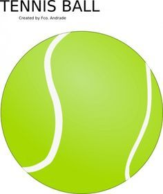 Tennis Ball clip art Free vector in Open office drawing svg ( .svg ...