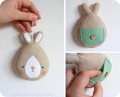 Free Felt Bunny Tutorial and Pattern