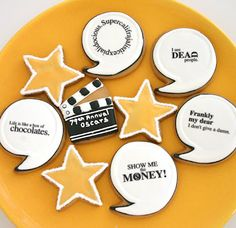 These cookies which feature famous hollywood quotes are super cute!  I bet they taste good too! #CouchCritics