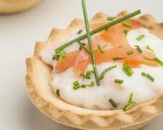 Tartelettes l�g�res au fromage blanc 0% et saumon fum�