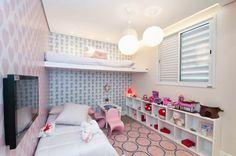papel de parede no quarto da menina