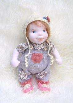 "SORANA 14"" Waldorf Doll,Soft Sculptured Doll. Cloth Doll,Steiner Doll, Handmade Doll, Baby Doll, Soft Doll, Girl Doll, Toy , Removable  Doll by MaryUniqueDoll on Etsy"