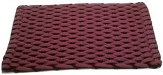 #332 Mauve with Wine insert Rockport Rope Doormats 100% made in USA Hand woven