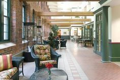 indoor hallway mimics a street so you can say hi to people as they pass by - good for assisted living or memory care