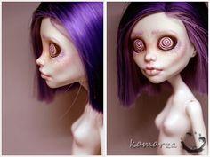 """""""hypnotica vondergeist"""" - monster high """"spectra"""" repaint by kamarza. *toomuchawesome*"""
