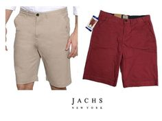 Jachs Mens Stretch Shorts Variety 32, Khaki