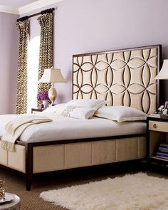 """LOVE this headboard design, it's so vintage glam! """"Twinkle"""" Bedroom Furniture @Horchow #home #decor #design"""