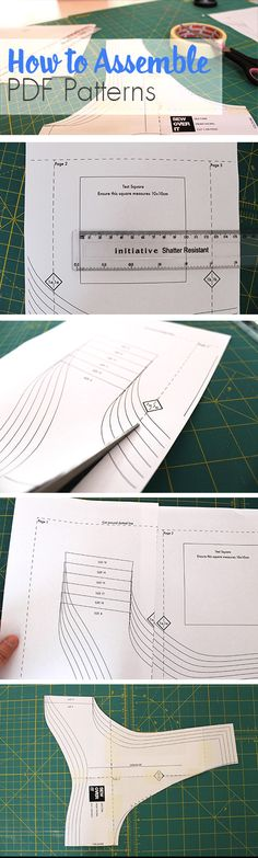 Assembling your digital PDF sewing patterns: a tutorial by Sew Over It