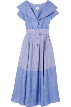Gül Hürgel   Linen and cotton-blend dress   NET-A-PORTER.COM