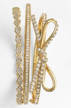 kate spade new york 'skinny mini' bow bangle | Nordstrom