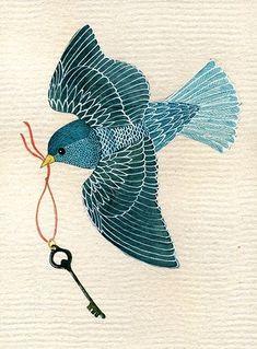 geninne d zlatkis - #bird #key:
