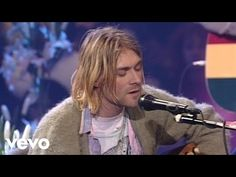 The Man Who Sold The World (MTV Unplugged) by Nirvana. Kurt Cobain was the founder and lead guitarist and vocalist of the band and he shot himself on April 1994 . Music Songs, My Music, Music Videos, Kurt Cobain Frases, Nirvana Youtube, Rock Roll, Pink Floyd, David Bowie Covers, Nirvana Songs
