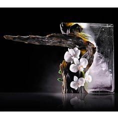The Power of Ascension - Yushan Juniper. Crystal artwork via Pate de Verre (Lost-Wax Casting) technique. Liuli Gong Fang