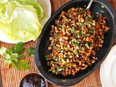 The inspiration for this recipe comes from the version of san choi bao I grew up eating at the original Phoenix Garden in New York's Chinatown. That version features minced squab stir-fried with pine nuts and finely diced water chestnuts and vegetables. This thing is all about texture as the mix of crunchy, crisp, and tender bits comes together in your mouth, and it works just as well with a new set of vegetable-based ingredients.