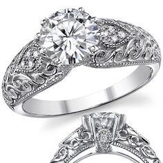 vintage engagement ring ($875.00)