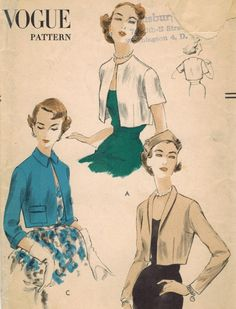 1950s Vogue 7390 Vintage Sewing Pattern Misses by midvalecottage, $16.00