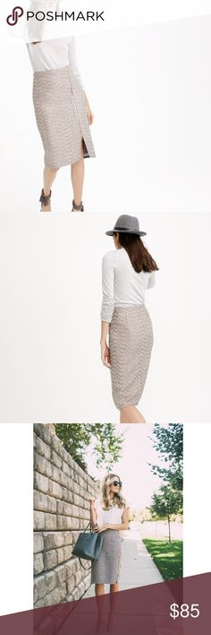 J. Crew Zip-Front Sparkle Tweed Skirt New w/o tag tall zip front pencil skirt in sparkle tweed. Mint new condition.  As seen worn on Scream Queens by Niecy Nash. J. Crew Skirts Pencil