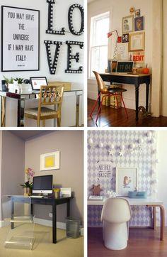 Mini home office - Small home offices - Pequenos escritórios