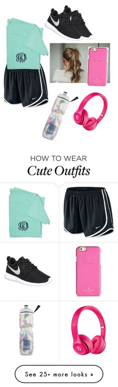 Workout outfit by daylinrose on Polyvore featuring NIKE, Kate Spade, Victorias Secret, Apple, womens clothing, women, female, woman, misses and juniors