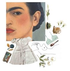 """""""dearest Frida"""" by xeptum ❤ liked on Polyvore featuring art"""