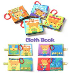 Educational Intelligence Development 8pcs Cloth Cognize Book Toy for Infant Baby