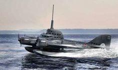 aeroplane submarine russian 1945