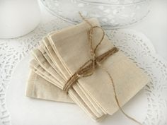 Muslin favor bags  Set of 200 Wedding favor bags by BrightBride, $120.00