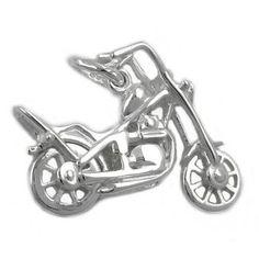 Schmuck-Juweliere.de - Anhänger, Chopper Motorrad, Silber 925