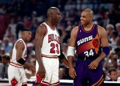 Two Pals Share A Moment, '93 Finals.