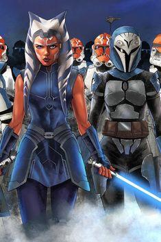 Star Wars Pictures, Star Wars Images, Asoka Tano, Samurai, Star Wars Drawings, Star Wars Wallpaper, Star Wars Fan Art, Star Wars Poster, Star Wars Clone Wars