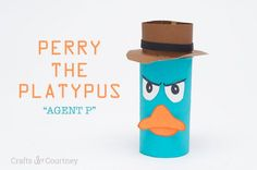 Toilet Paper Roll Perry the Platypus Craft | Make for Ms. Thompson