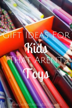 Do you struggle to find gifts for kids and don't want to resort to giving toys? Here's 9 gift ideas for kids that aren't toys.