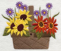 Free Embroidery Design: Blooming Autumn Basket - I Sew Free