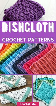 30 Crochet Dishcloth Patterns that you will want on your kitchen sink - don& miss this list! So many amazing easy crochet patterns, intricate crochet patterns, and beautiful options for dishcloths! Filet Crochet, Quick Crochet, Crochet Amigurumi, Crochet Yarn, Dishcloth Crochet, Crochet Scrubbies, Crochet Hooks, Crochet Mandala, Crochet Afghans
