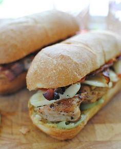 Chicken club baguette