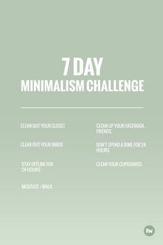 7 day minimalism cha