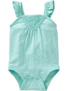 Crochet-Applique Bodysuits for Baby | Old Navy