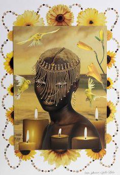 Oshun/ Oxum an Orisha who reigns over love, intimacy, beauty, wealth and… Black Goddess, Goddess Of Love, African American Art, African Art, Black Women Art, Black Art, Oshun Goddess, Yoruba Orishas, African Mythology