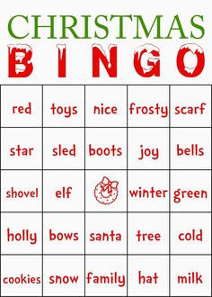 FREE Classroom Christmas BINGO Cards {great to print out at the last minute!}