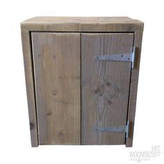 Steigerhout van Het Woonrecept Nachtkastje steigerhout grijs/naturel ...