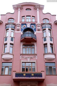 Profitable House of P. T. Badaev. Art nouveau style in architecture / Архитектура в стиле модерн в Санкт-Петербурге: Доходный дом П. Т. Бадаева (Дом печального ангела)