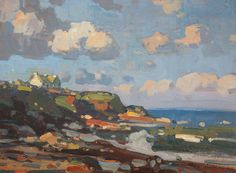 """""""Cottage by the Sea"""" John Traynor - The Harrison Gallery www.theharrisongallery.com"""